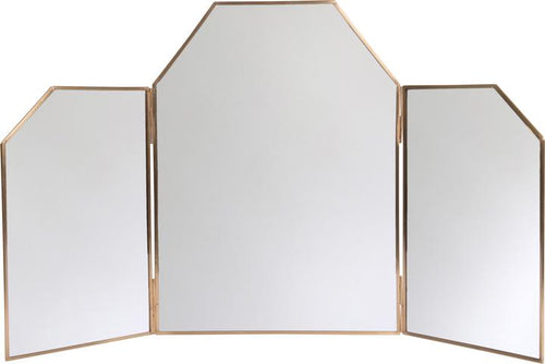 Brass Hinged Dressing Table Mirror