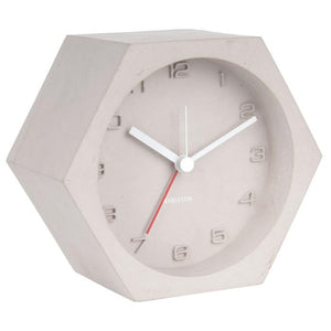 Grey Concrete Karlsson Alarm Clock