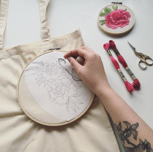 Embroidered Tote Bag Workshop - Thurs 27th June
