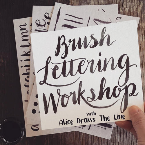 Brush Lettering Workshop - Thurs 23rd Apr 6.30pm