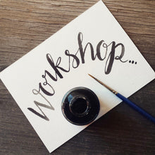 Brush Lettering Workshop - Weds 29th Jan