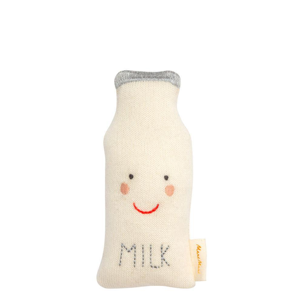 Knitted Milk Bottle Rattle