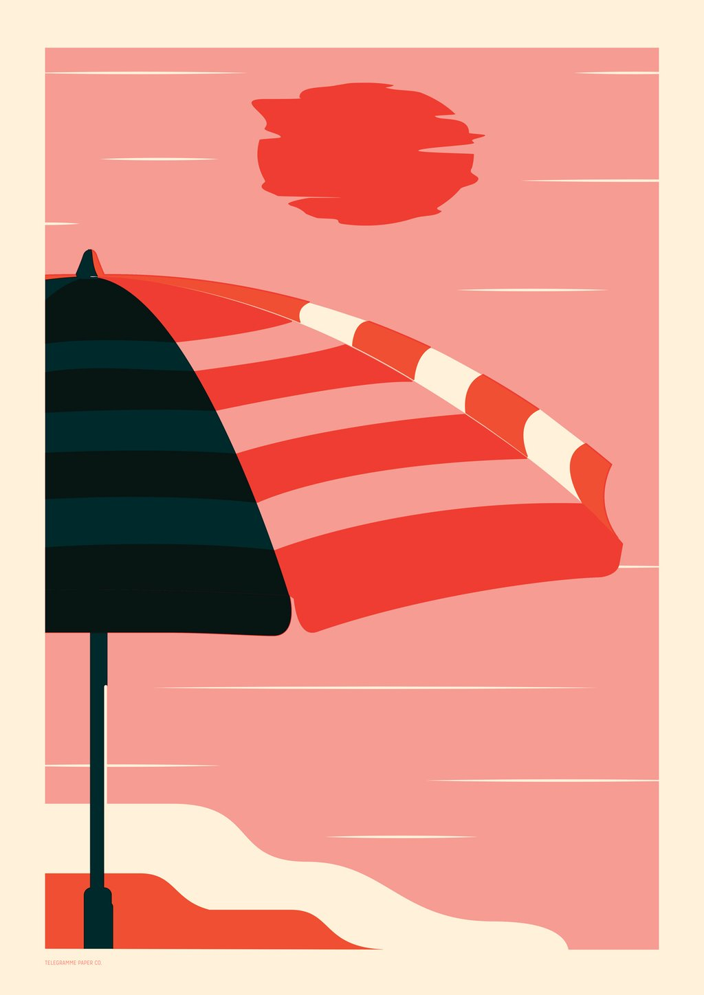 Endless Summer Umbrella Screenprint
