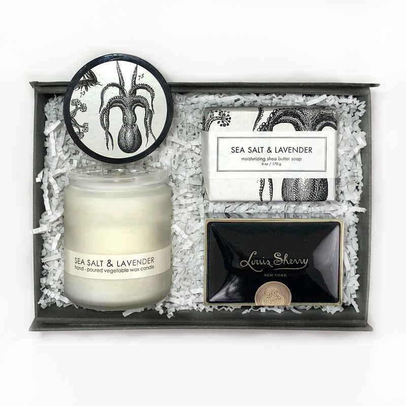 formulary 55 sea salt and lavender candle