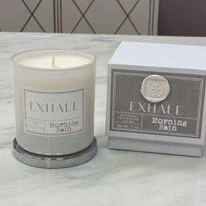 Mint-lavender exhale candle