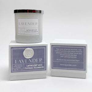 ML LAVENDER AND COTTON BLOSSOM CANDLE