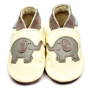 inch blue buttermilk elephant baby booties