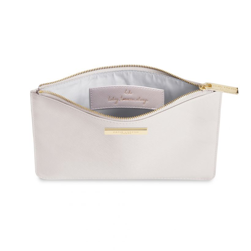 KATIE LOXTON PERFECT POUCH -  BRIDAL -  METALLIC PEARL PINK