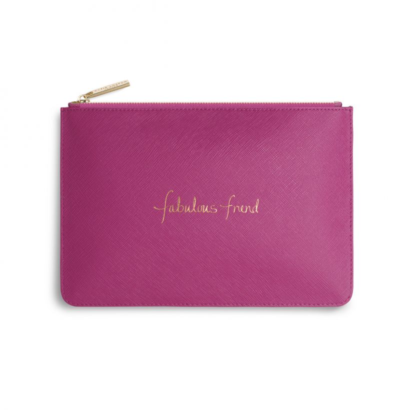 "PERFECT POUCH - ""FABULOUS FRIEND"" - HOT PINK"