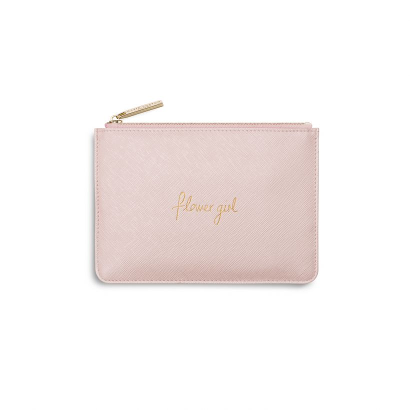 KATIE LOXTON PERFECT POUCH - FLOWER GIRL - METALLIC PINK