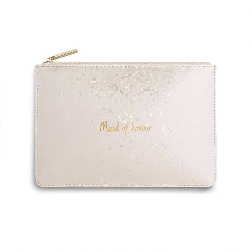 KATIE LOXTON PERFECT POUCH - MAID OF HONOR - PEARL PINK