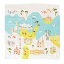 LOULOU LOLLIPOP MUSLIN SWADDLE - SYDNEY
