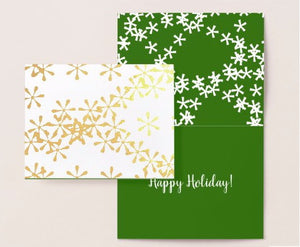 mint-lavender holiday greeting card