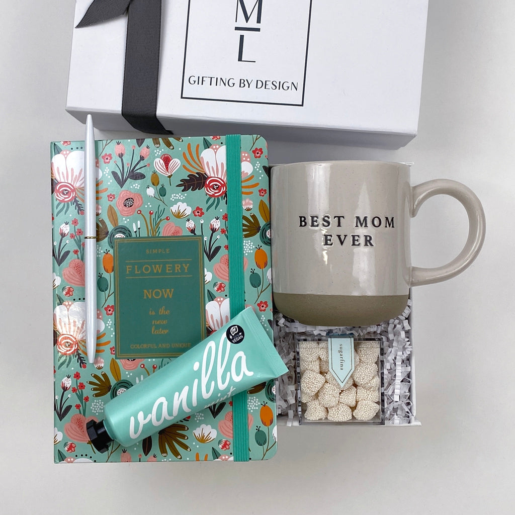 mint-lavender all about mom mother's day gift box