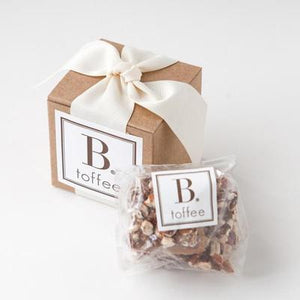 DARK CHOCOLATE TOFFEE WITH ROASTED PECANS - CREAM RIBBON