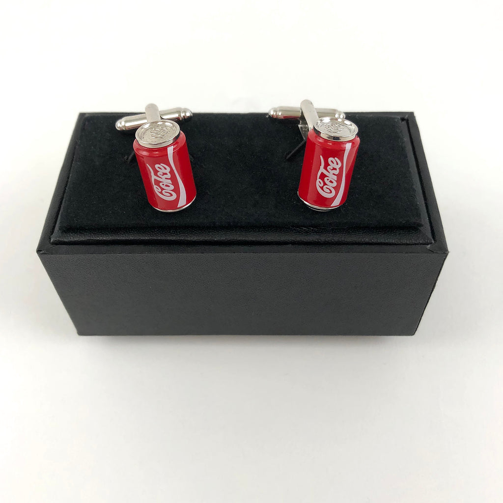 MINT-LAVENDER CUFFLINKS - COKE CAN