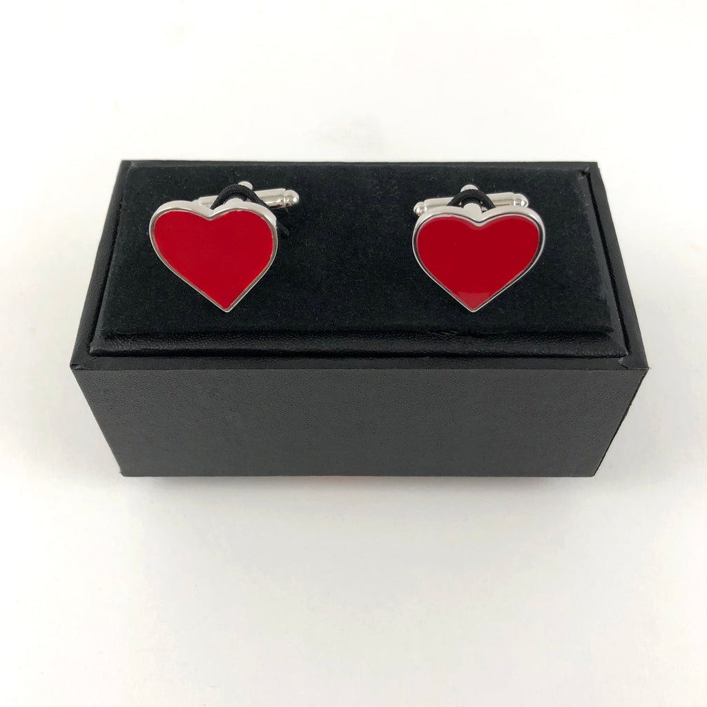 MINT-LAVENDER CUFFLINKS - RED HEART