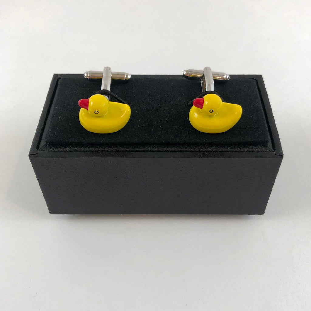 MINT-LAVENDER CUFFLINKS - RUBBER DUCKY