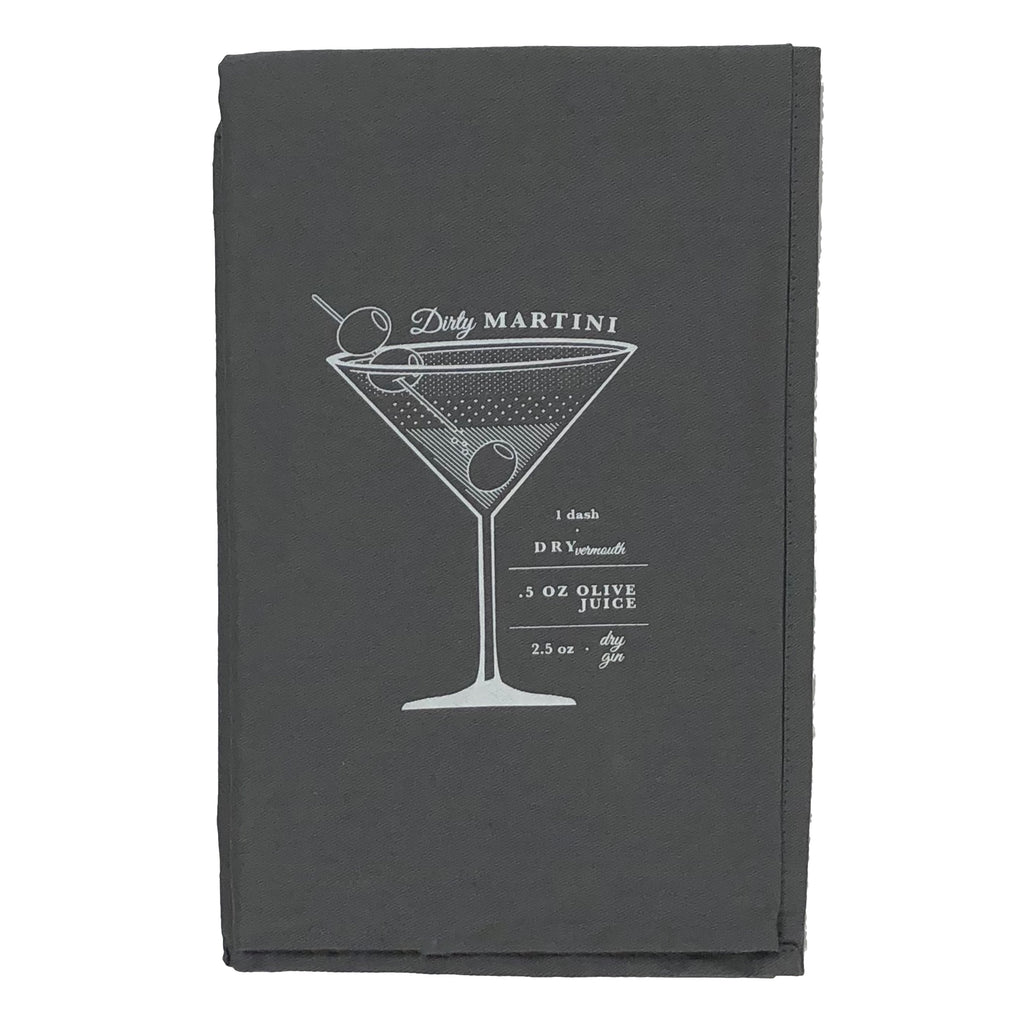 VISKI ADMIRAL BAR CART COCKTAIL TOWEL -DIRTY MARTINI