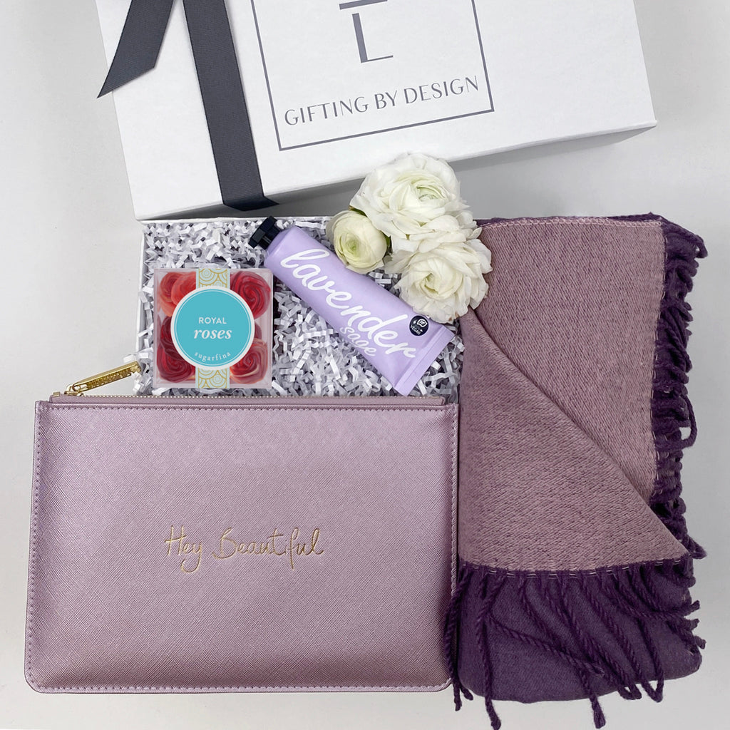 mint-lavender hey beautiful gift box