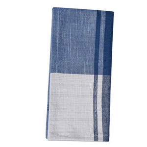 bloom and give blue and white kitchen towel