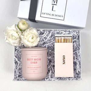 mint-lavender love you mom gift box
