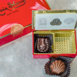Louis Sherry chocolates in 2-piece Vreeland red tin