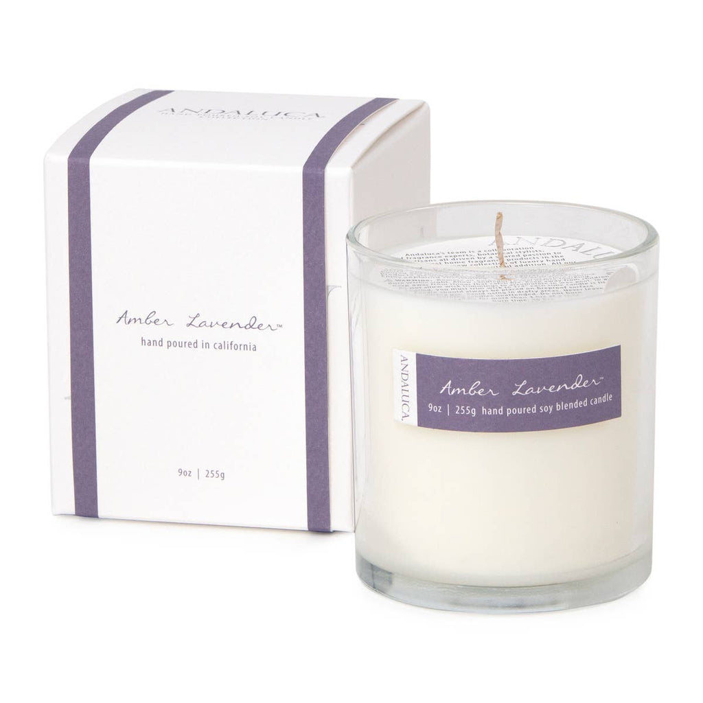 AMBER+LAVENDER SOY CANDLE