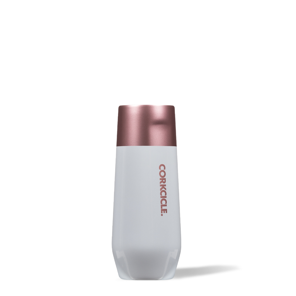 CORKCICLE COLOR BLOCK MODERN ROSE STEMLESS FLUTE -  7OZ.