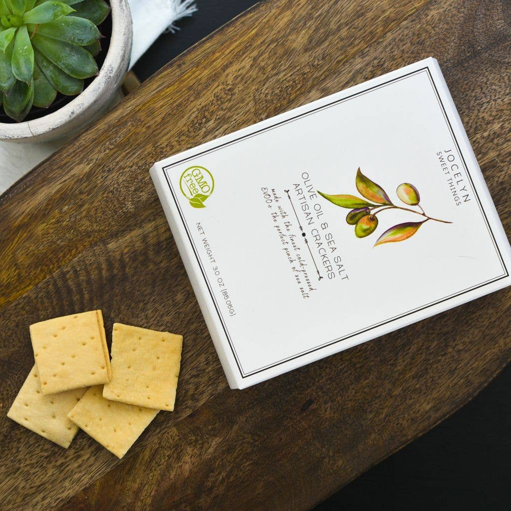 OLIVE OIL AND SEA SALT ARTISAN CRACKERS