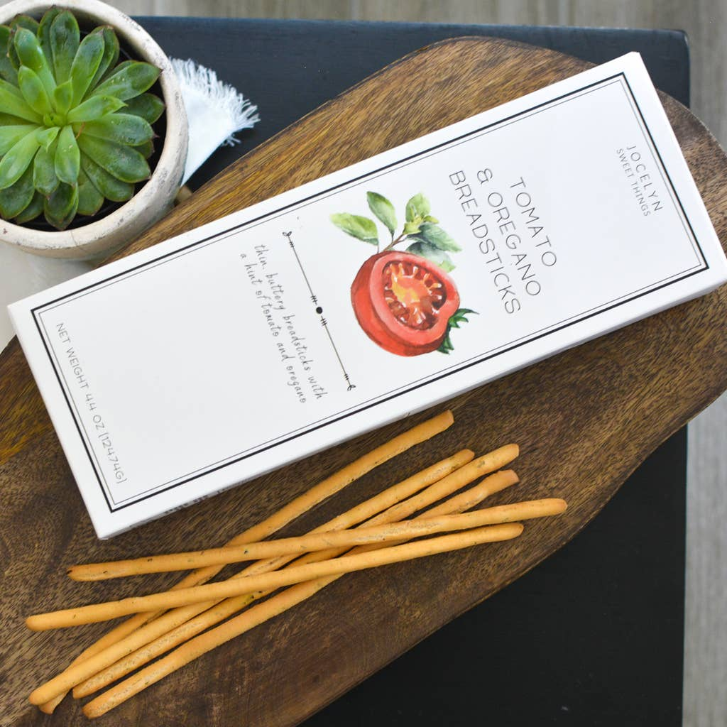 TOMATO AND OREGANO BREADSTICKS