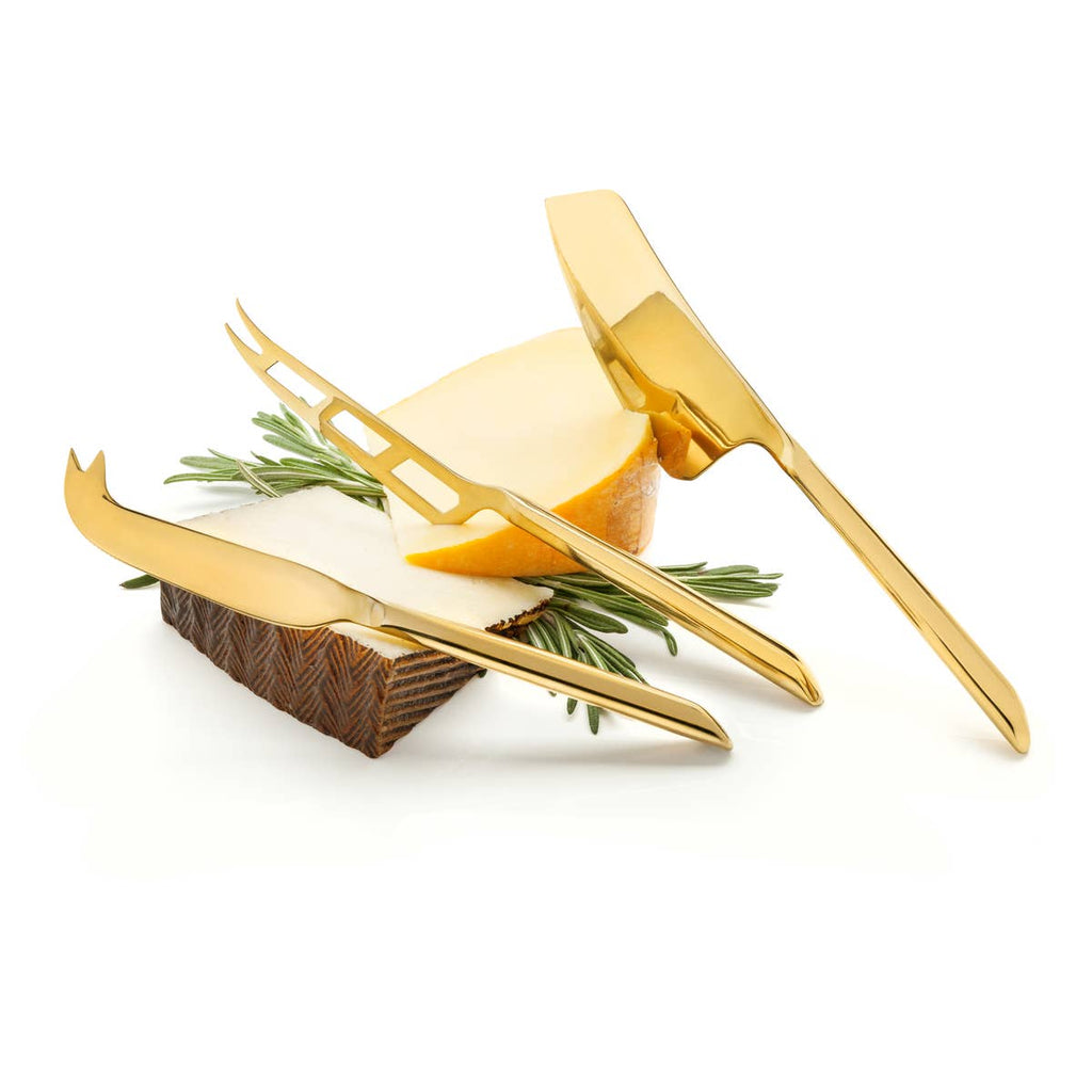 VISKI GOLD PLATED KNIFE SET