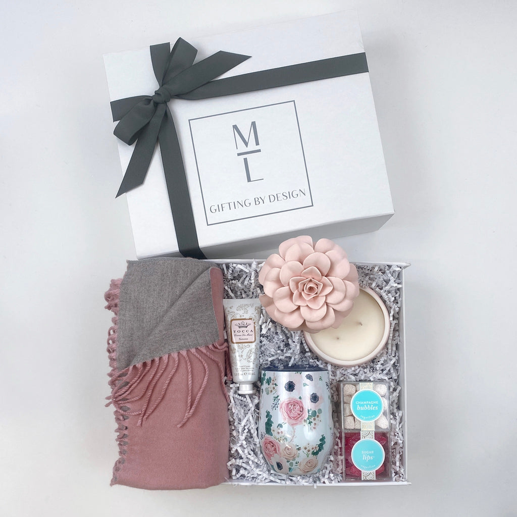 mint-lavender custom mother's day gift box