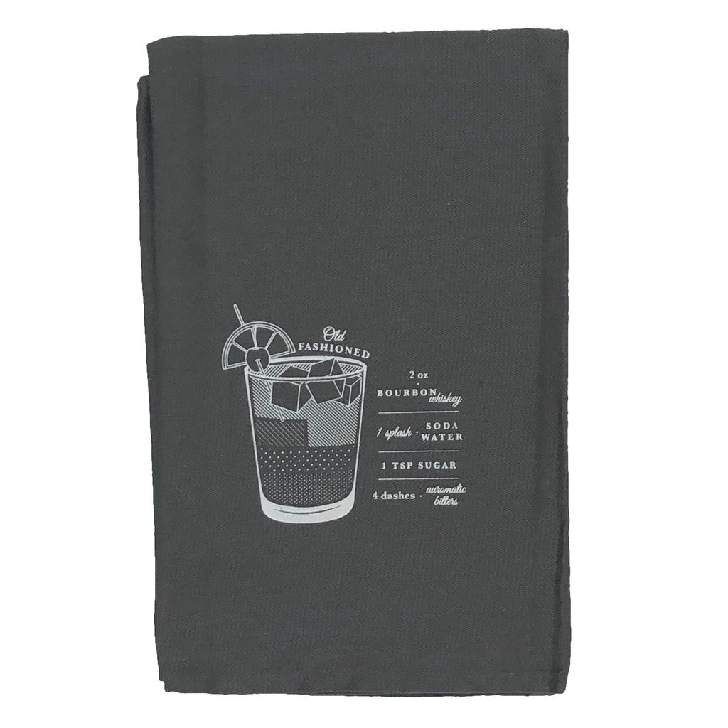 VISKI BAR CART COCKTAIL TOWEL - OLD FASHIONED