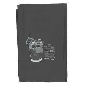 Viski the old fashioned bar cart cocktail towel