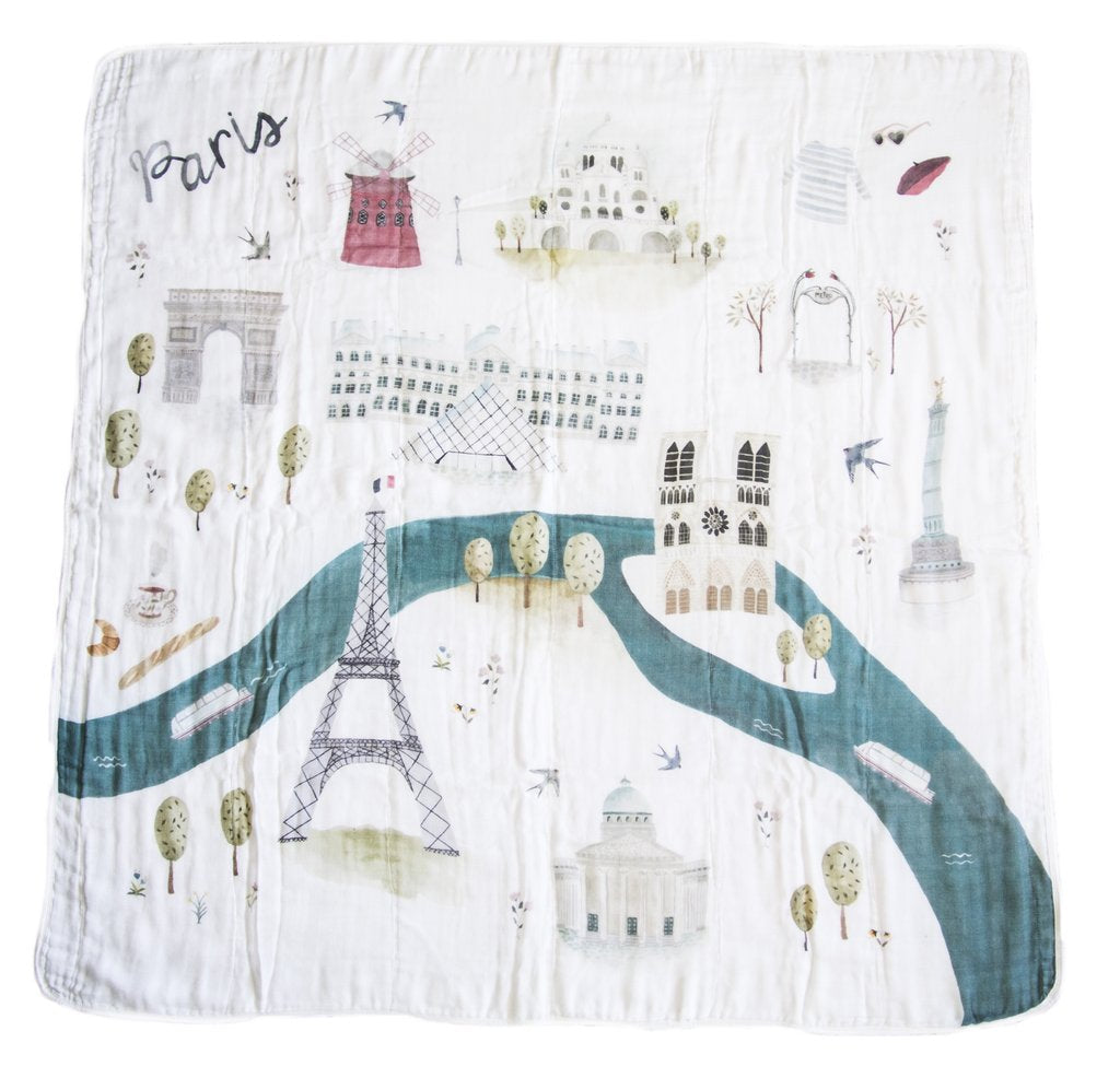 loulou lollipop muslin Paris baby swaddle