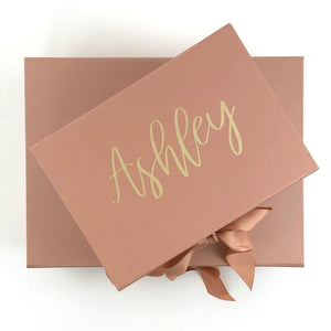 Mint-Lavender personalized bridesmaid gift box