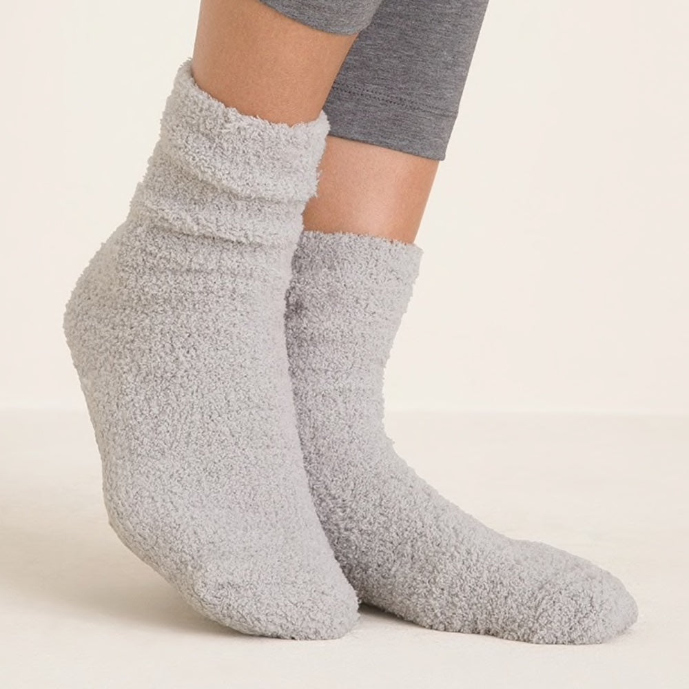 COZY GRIPPER SOCKS - HEATHER GRAY