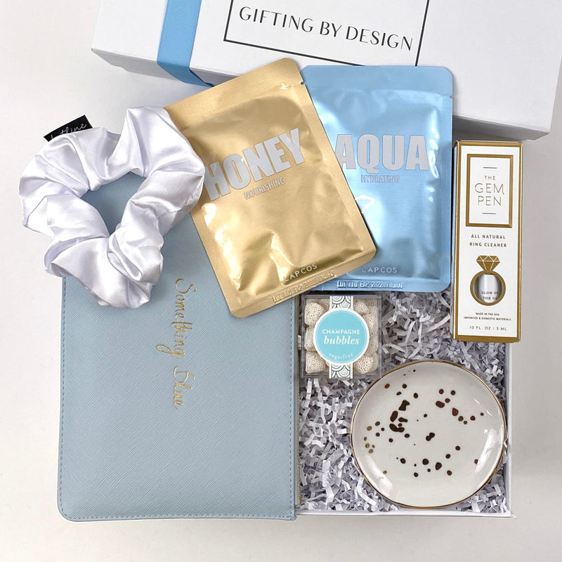 the misses gem pen, mint-lavender something blue gift box