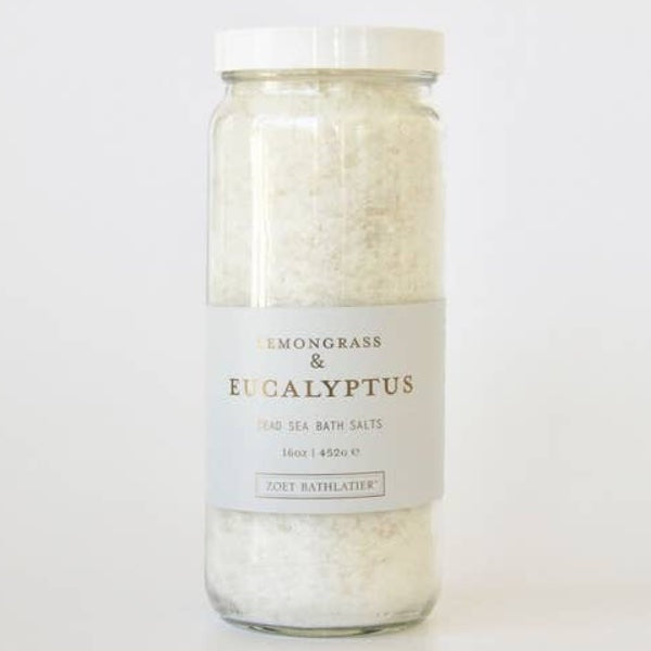 LEMONGRASS + EUCALYPTUS BATH SALTS