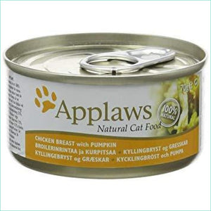 Applaws 70G Cat Single Tins - Chicken Breast And Pumpkin - Cat Food