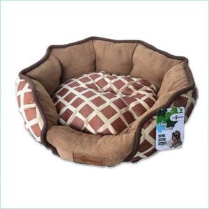 Chocolate Fur Comfort Pet Bed - Beds