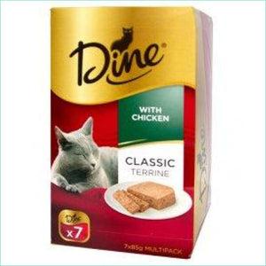 Dine Classic Terrine With Chicken. Box Of 7 - Cat Food