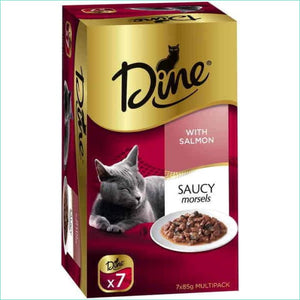 Dine Saucy Morsels With Salmon Box Of 7 - Cat Food
