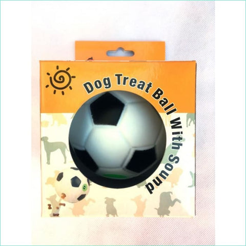 Enticing Noise And Treat Dispensing Ball - Dog Toys