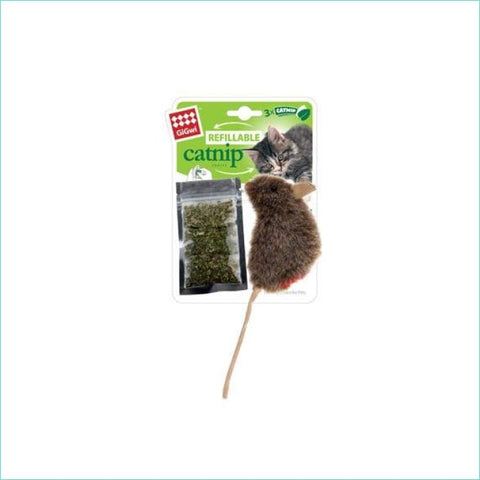 Gigwi Refillable Natural Cat Nip Mouse - Cat Toys