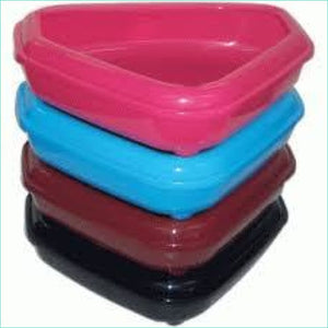 Large Corner Litter Tray With Rim - Litter