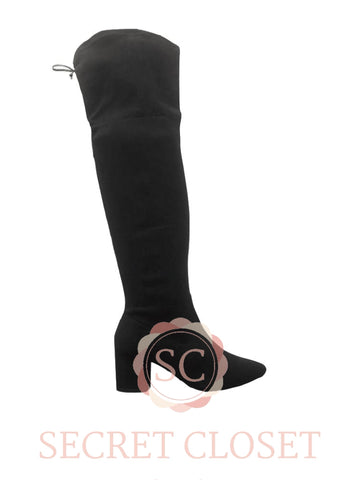 Black High Boots Accessory