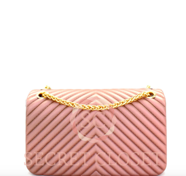 Chevron Embossed Jelly Small 2-Way Shoulder Bag Bag