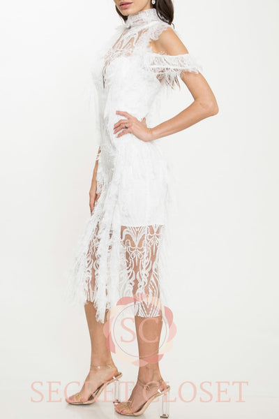 Lined White Dress Clothing